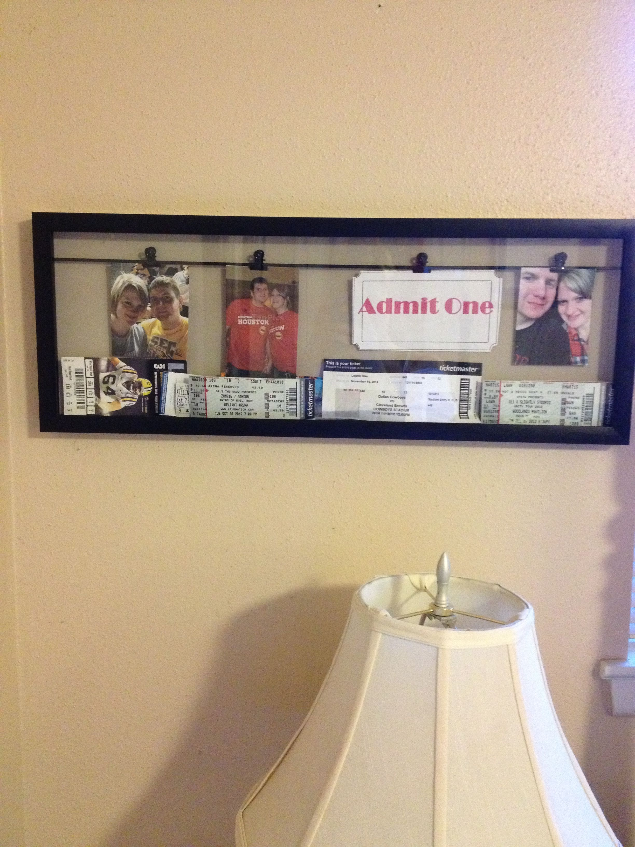 A shadow box with photo clips to showcase photos my love and our ...
