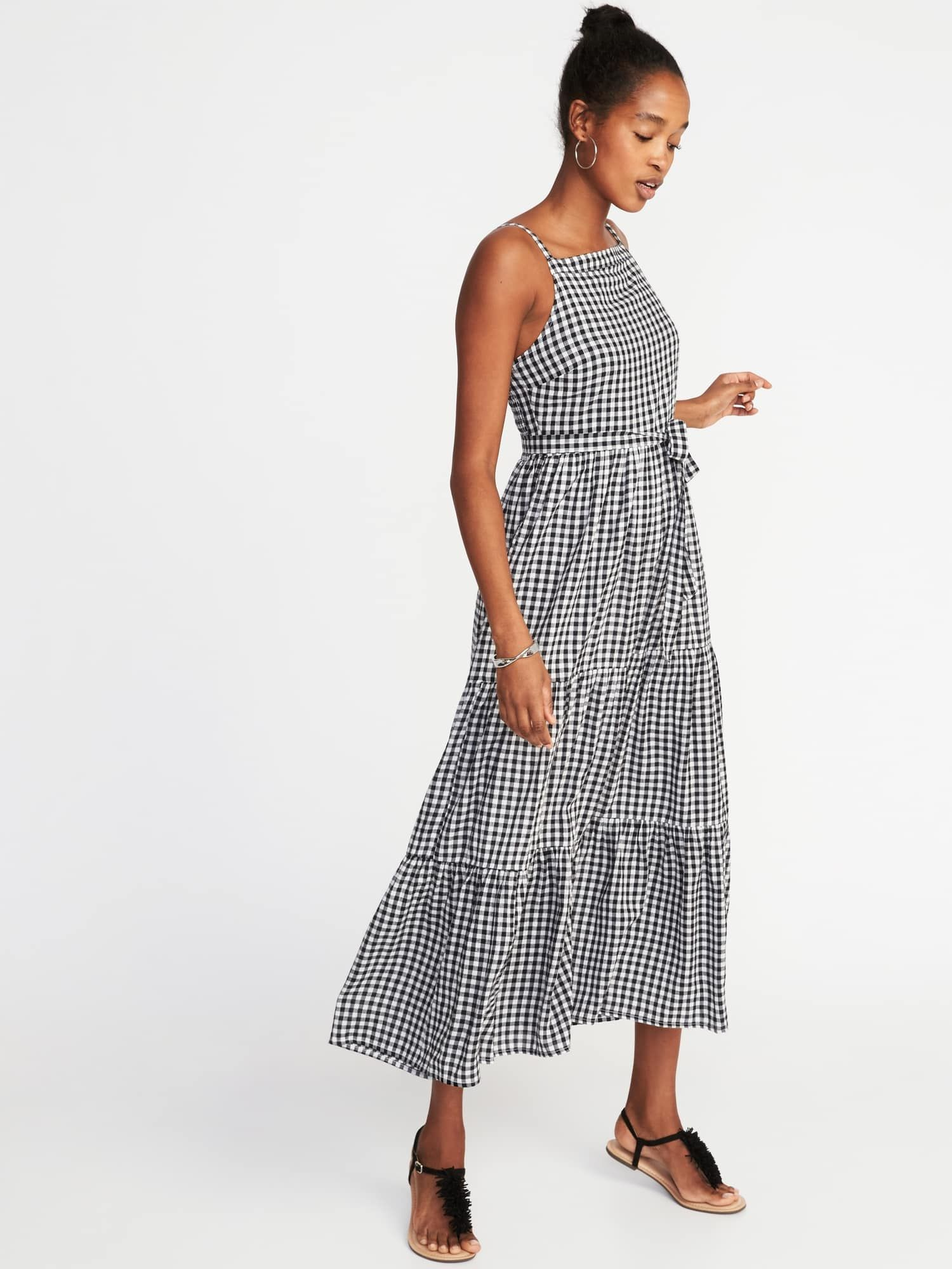 9d6bbfb00a56 Sleeveless Tiered Gingham Maxi Dress for Women | Old Navy | To Wear ...