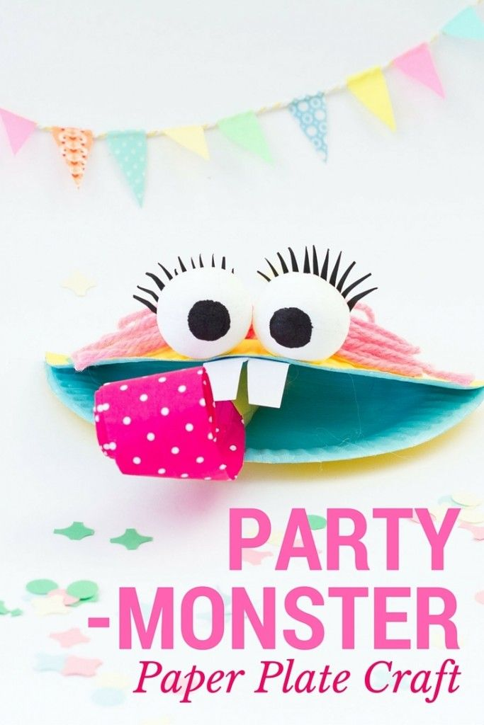Party Monster Super Cute Paper Plate Craft Paperplate Crafts