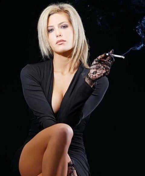 Smoking Naked Women