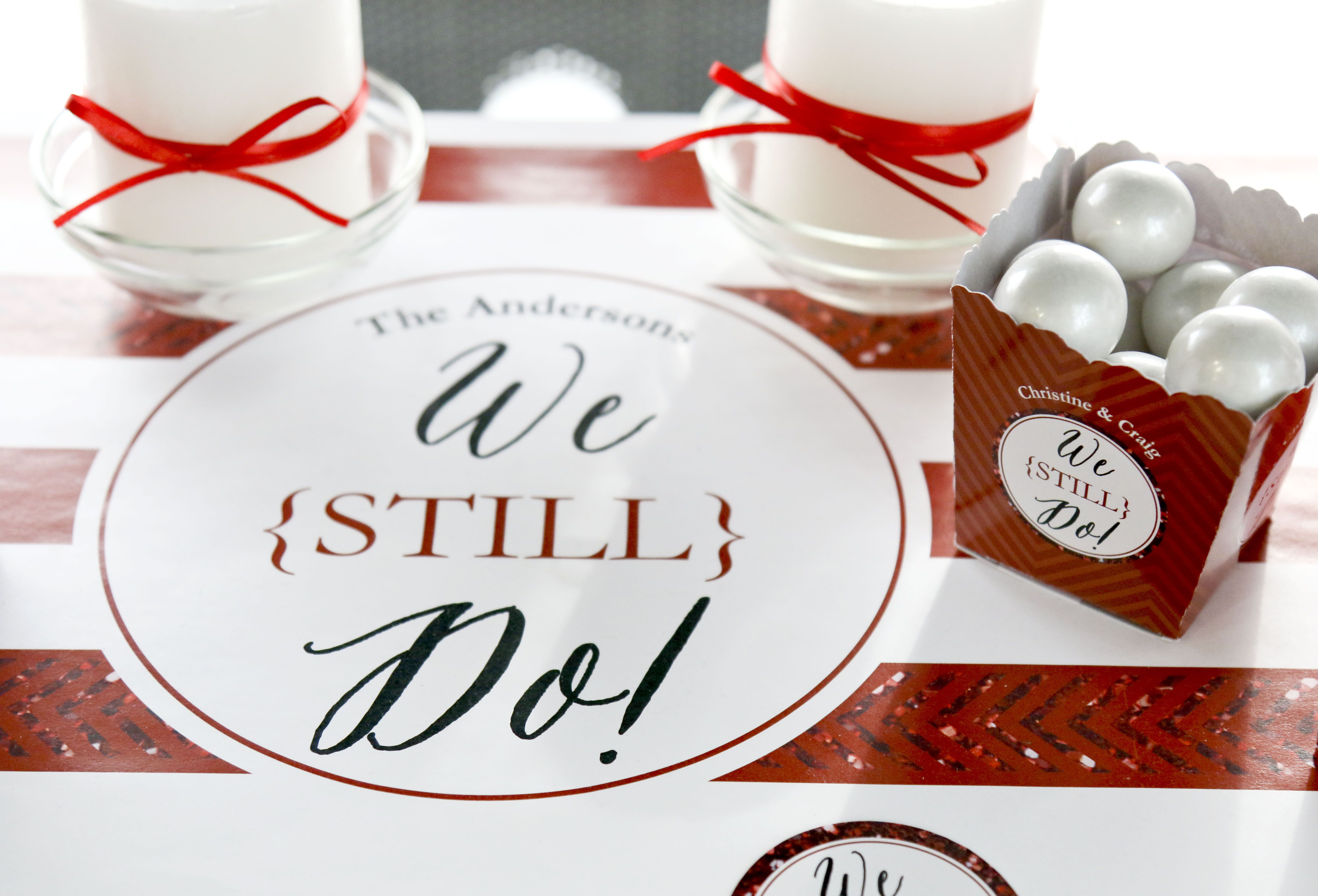 Decoration ideas for 40th wedding anniversary  We Still Do  th Wedding Anniversary  Personalized Anniversary