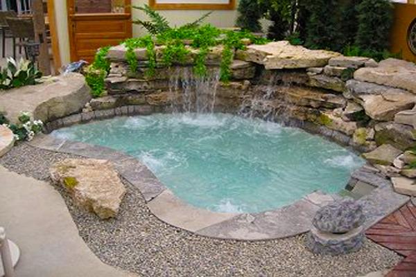 Inground Spa And Hot Tub Gallery Hottubworks Blog Hot Tub Backyard Backyard Spa Small Pools Backyard
