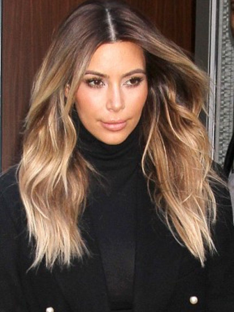 Blonde Kim Kardashian Hair Colour