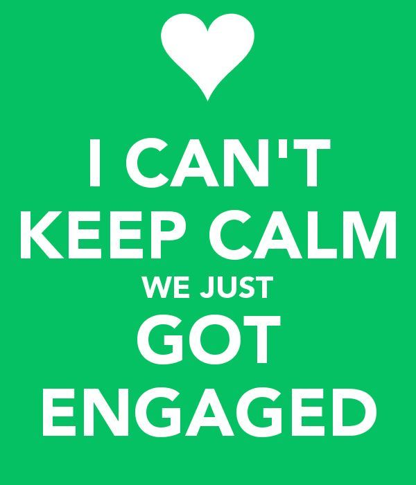 Keep Calm Engaged Quote Congrats To Lara Michael Newly