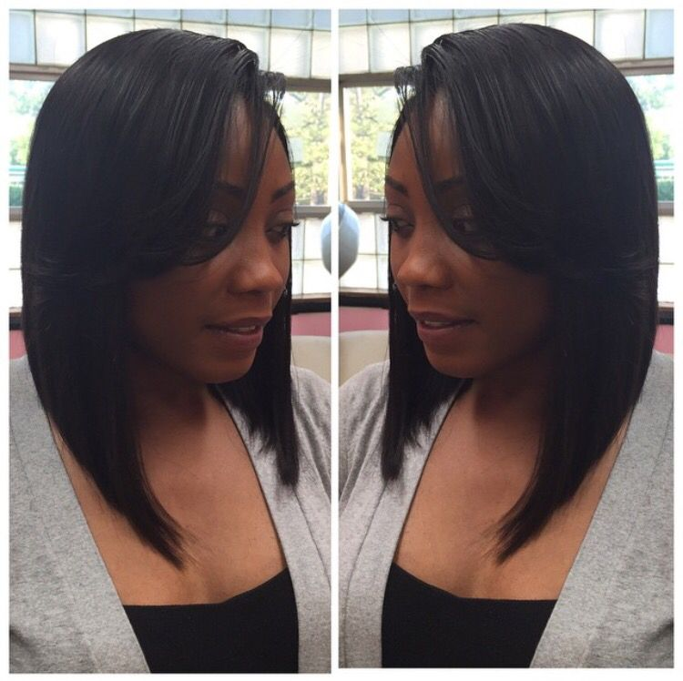 Long bob aka the lob lace closure sew in weave install