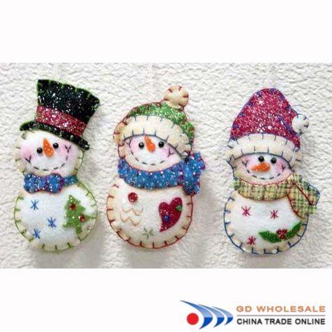 Santa Snowman Felt Ornament Christmas Ornament Hand