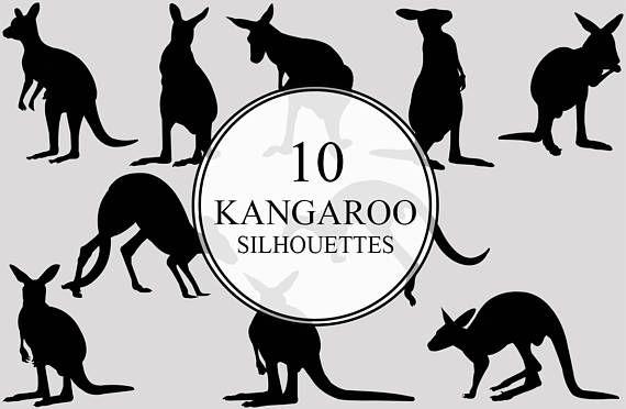kangaroo silhouette clipart clip art ai eps svgs jpgs pngs pdf