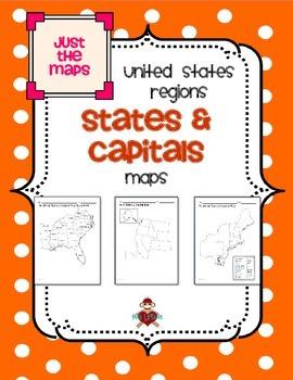 All US Regions States & Capitals Maps Only | Teacher! Teacher! | Us ...