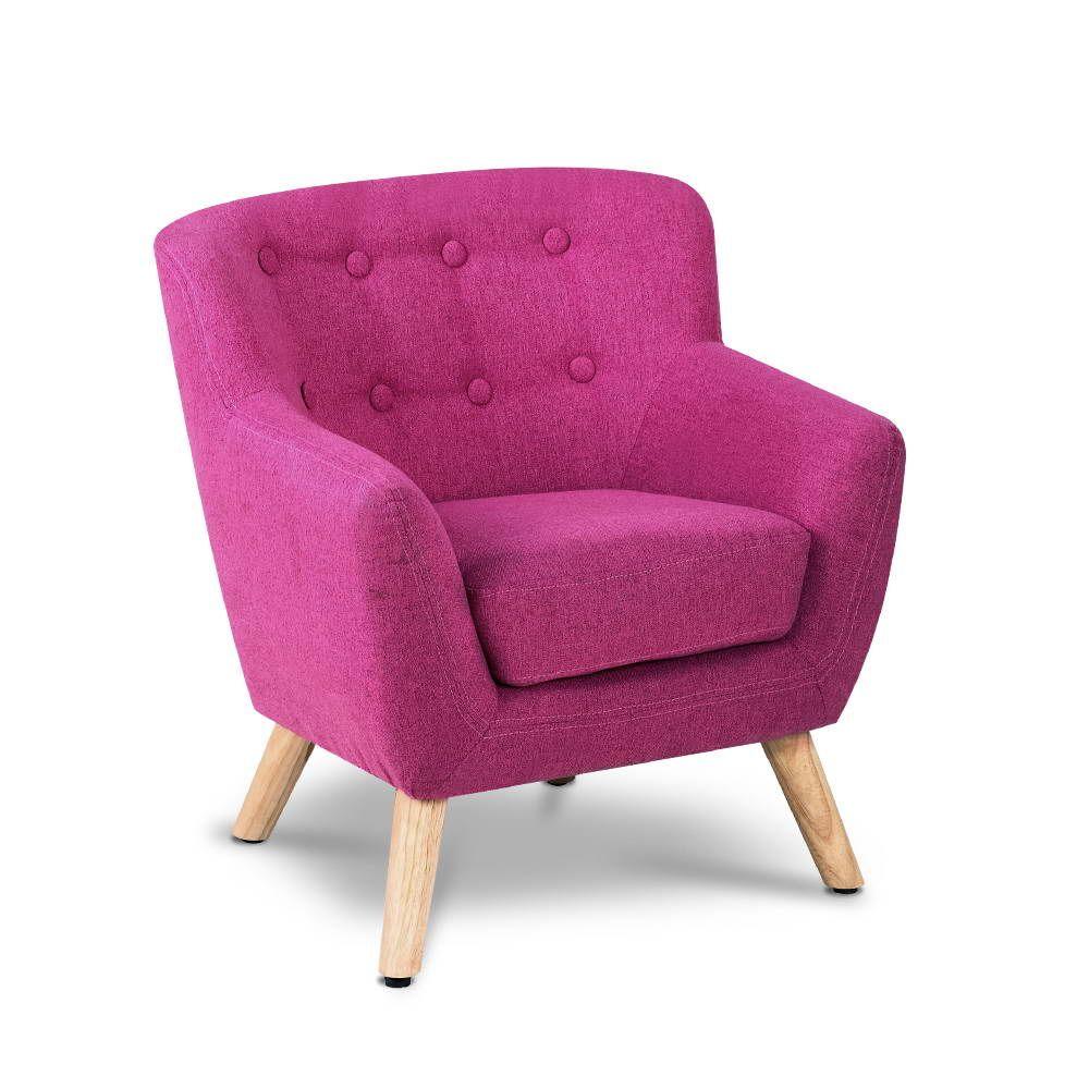 Kids Fabric Armchair - Pink