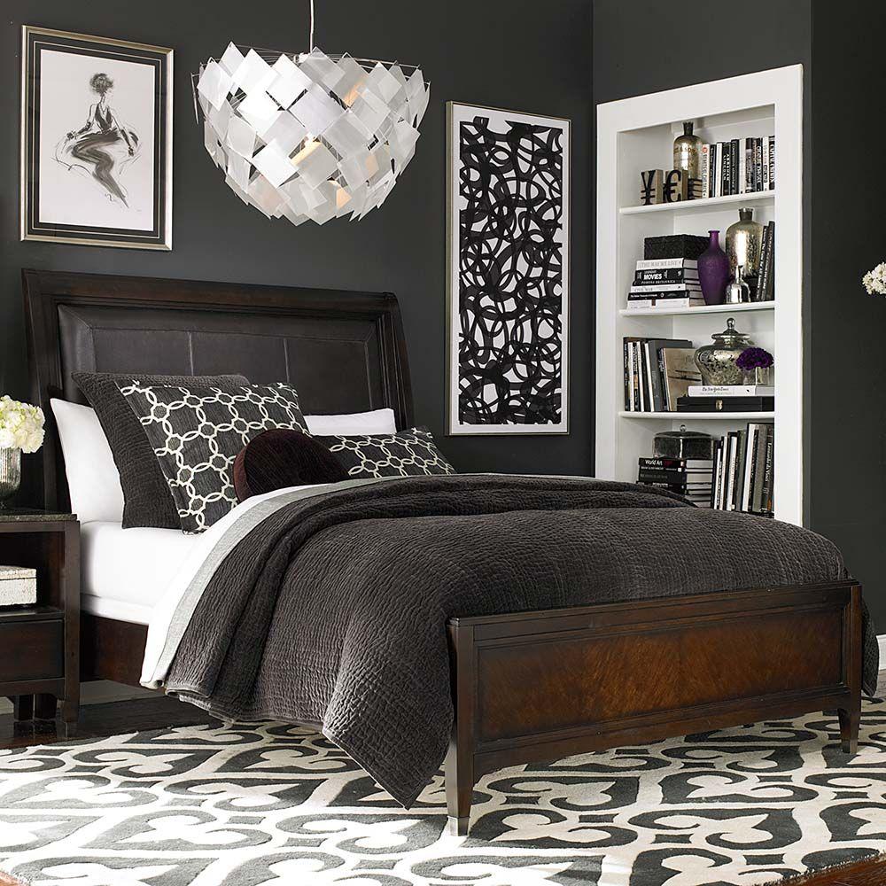 Leathersleighbed interior design great bedrooms pinterest