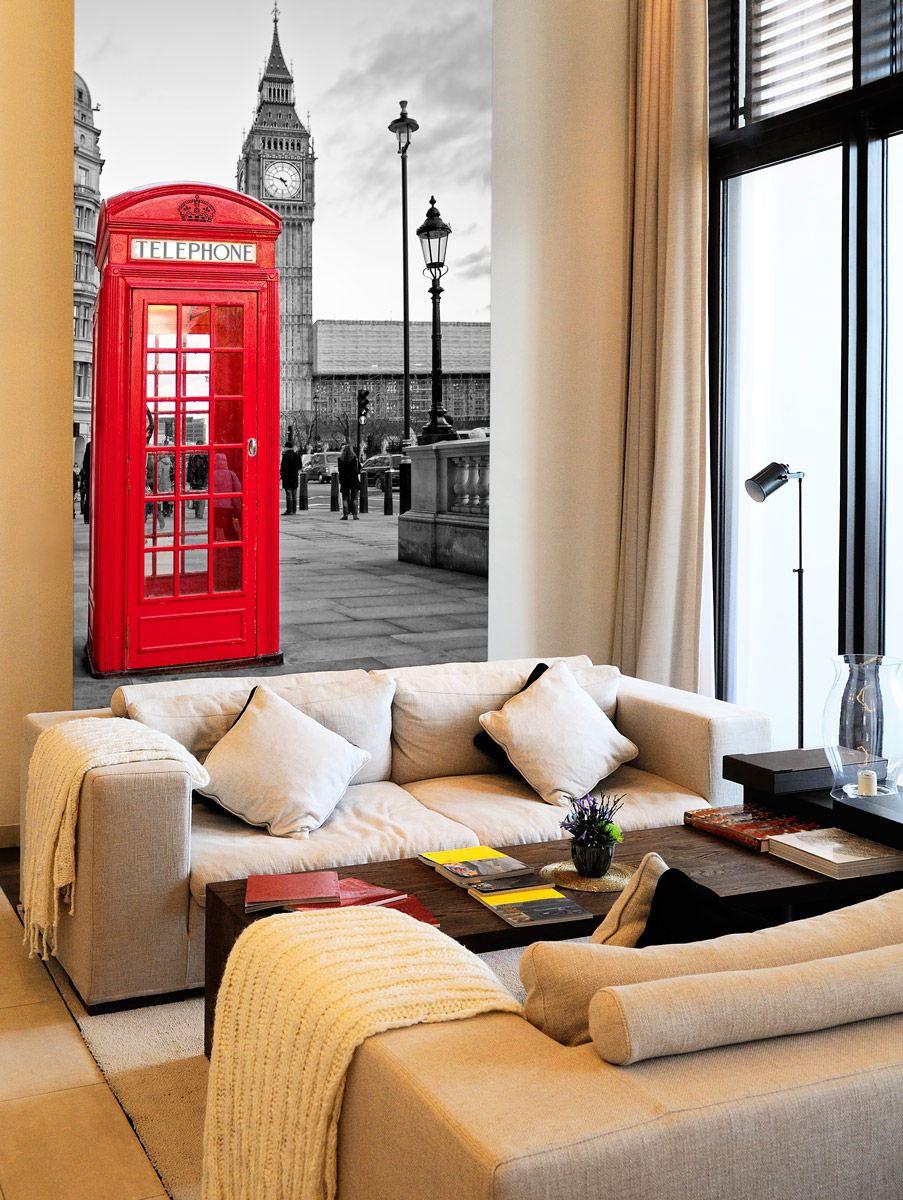 cabina london fotomurales london calling vinilos decorativos decoracion teleadhesivo. Black Bedroom Furniture Sets. Home Design Ideas
