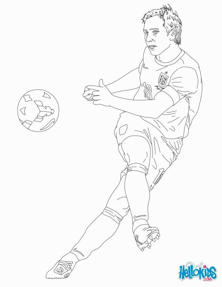 Soccer Players Coloring Pages voetbal Pinterest Soccer