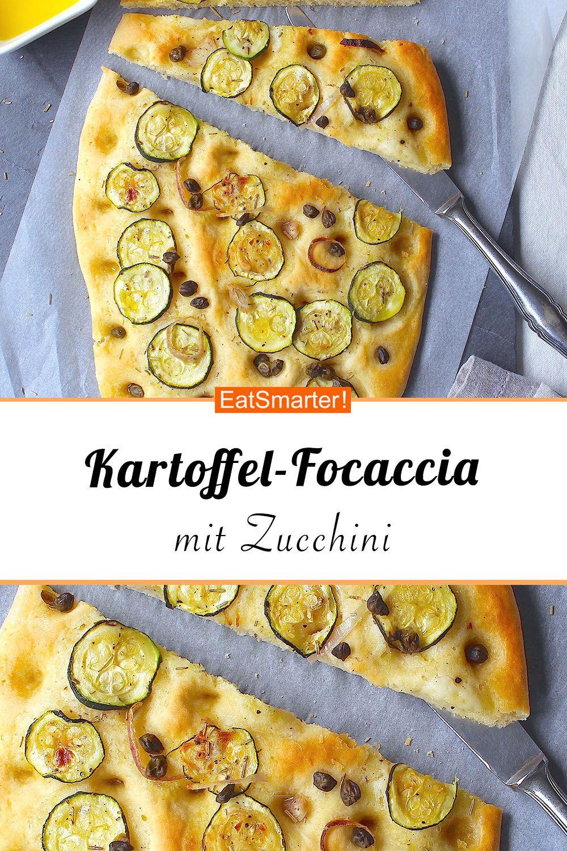 Kartoffel-Focaccia mit Zucchini