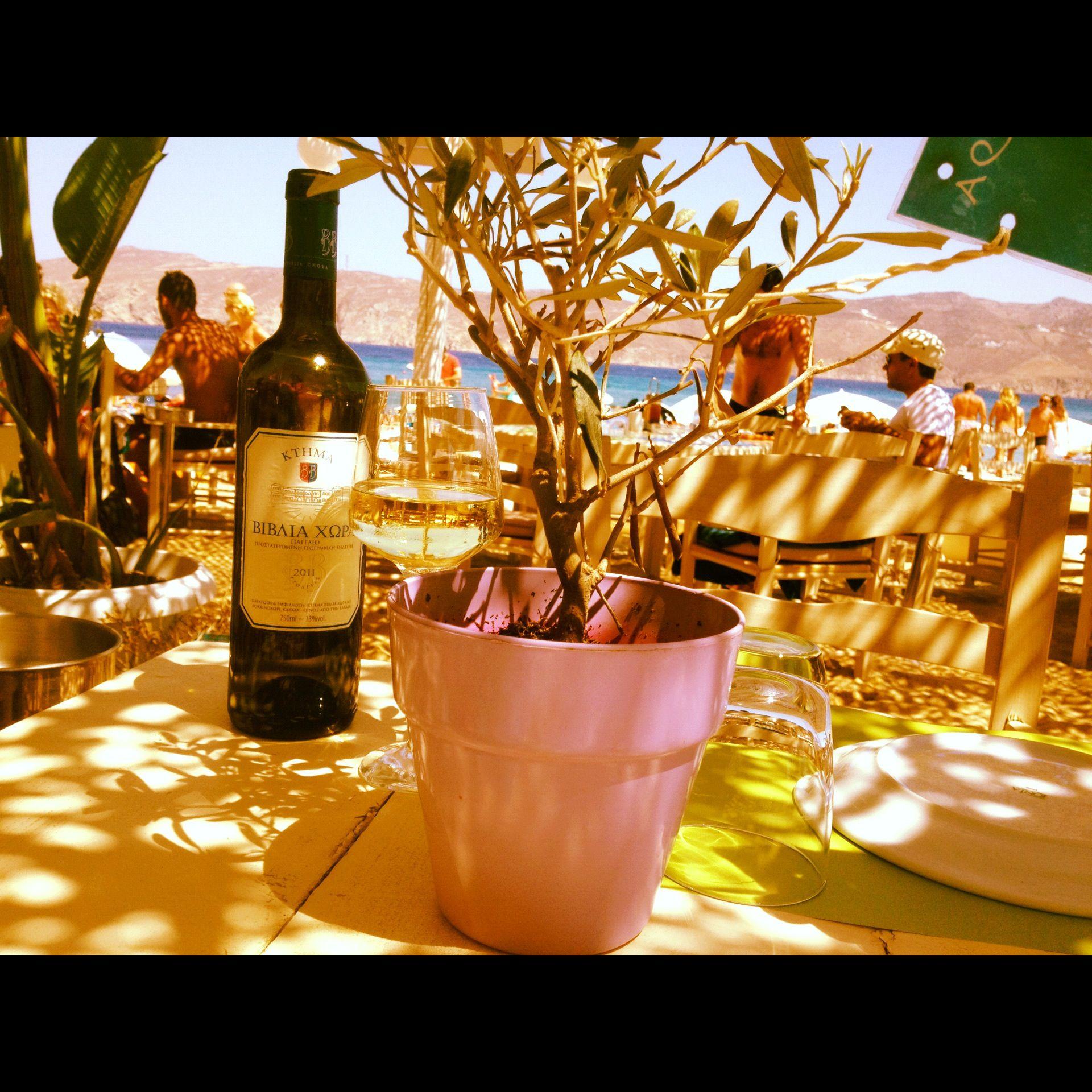 Vin blanc de Paros.