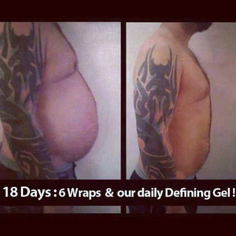 Boys Wrap Too! Before and After. Wrap with me! Tight Tone and FIRM. www.weavleywraps.com