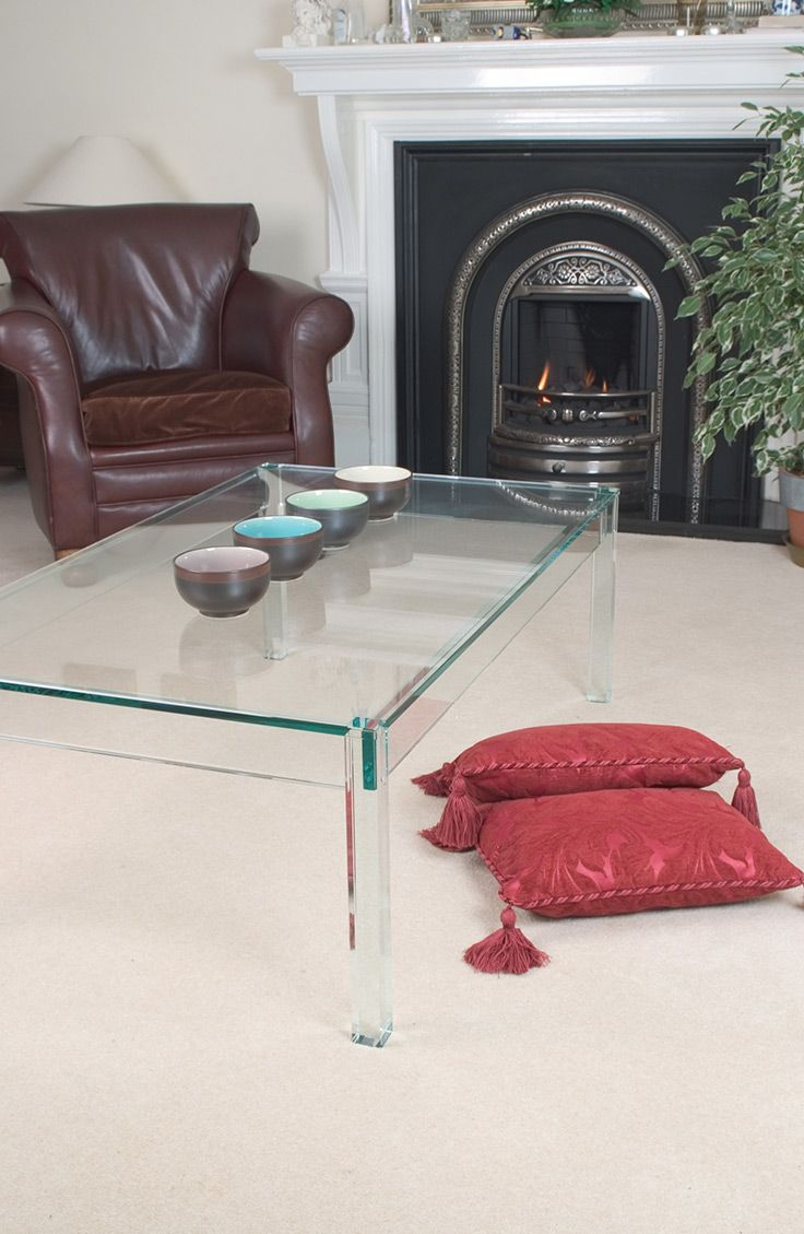 The Greenapple Crystal Vienna Glass Coffee table is beautifully crafted from tempered, toughened crystal glass, to create a stunning coffee table for those seeking traditional style with a wonderful twist.