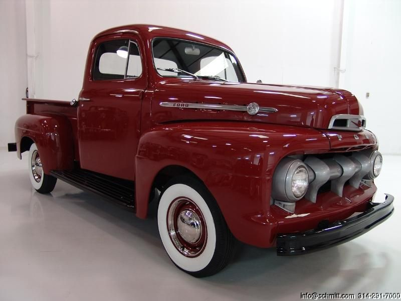 beautiful ford truck photos | ... SCHMITT & CO CLASSIC CAR GALLERY PRESENTS: 1952 FORD F1 PICK-UP TRUCK