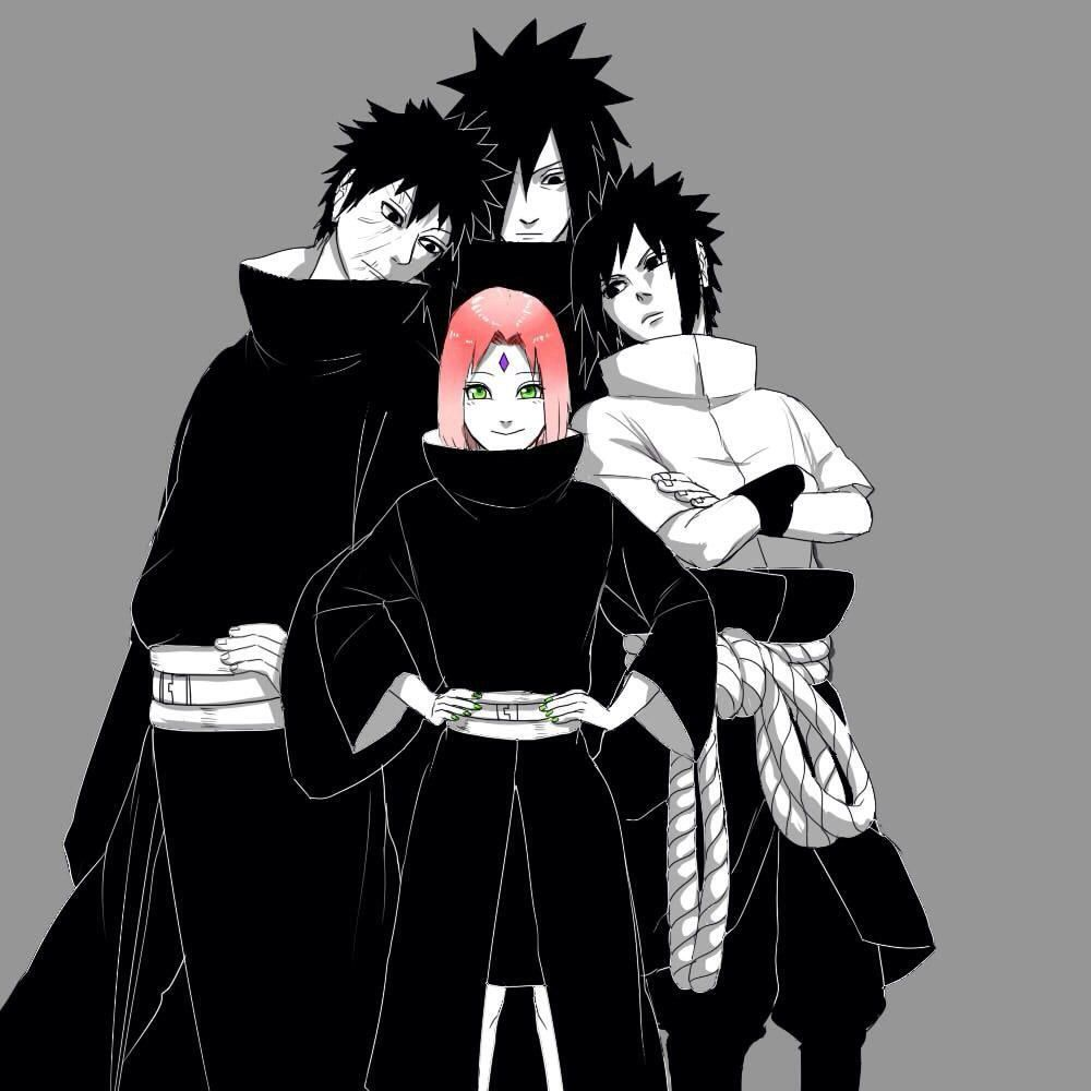 The Uchiha: Naruto- Sakura Sasuke Obito And Madara