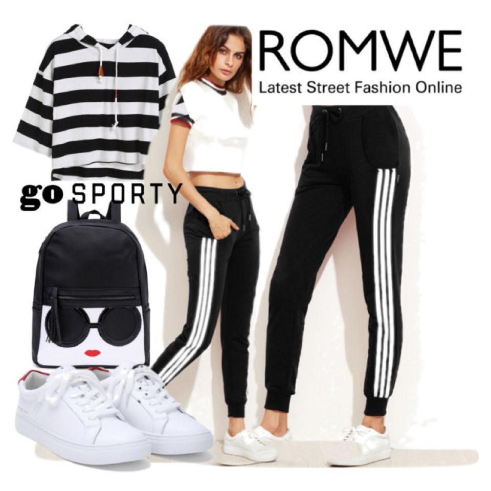 54060e298 Black Side Stripe Drawstring Tapered Leg Pants | BTS Outfit Ideas ...