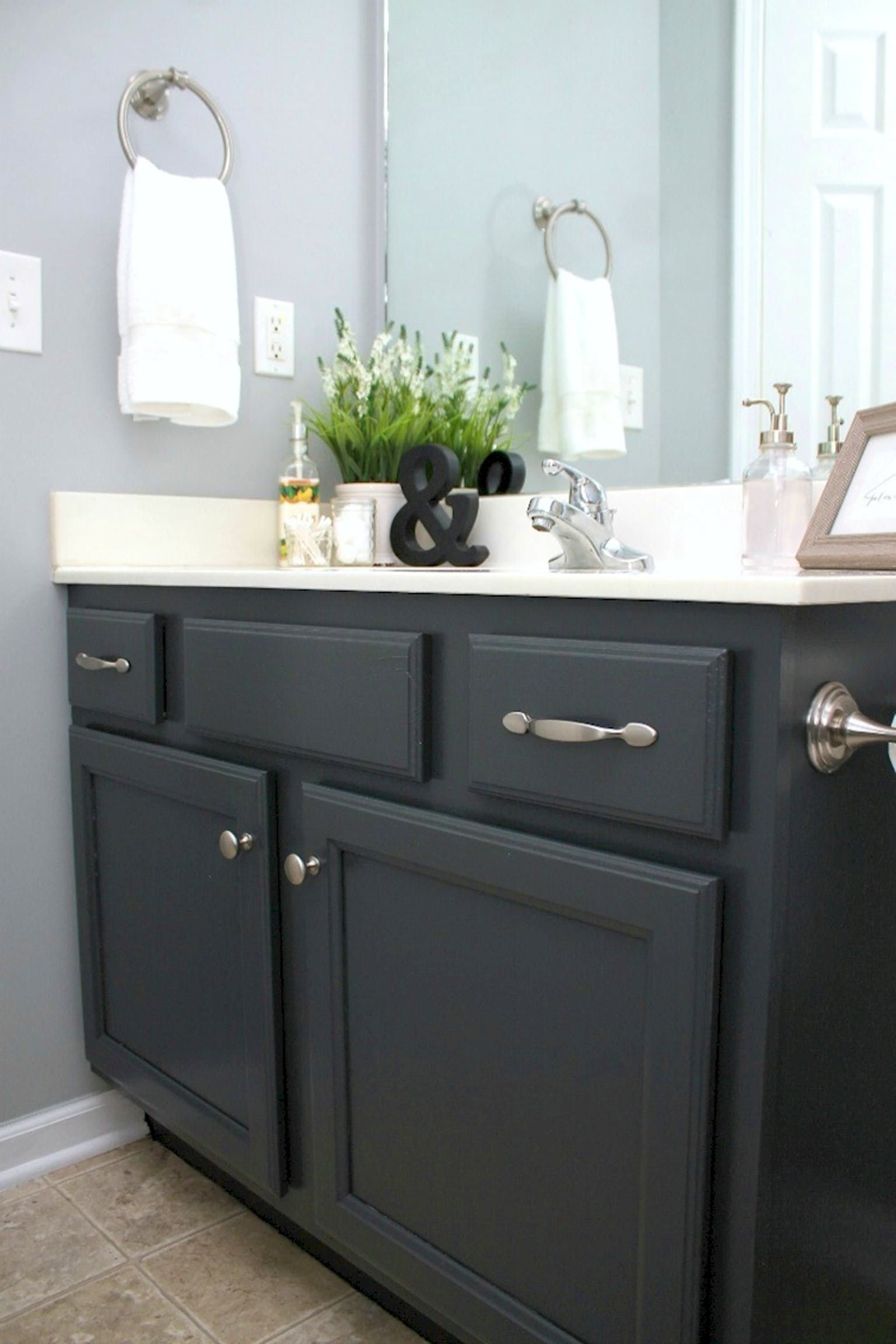 do it yourself painting bathroom cabinets
