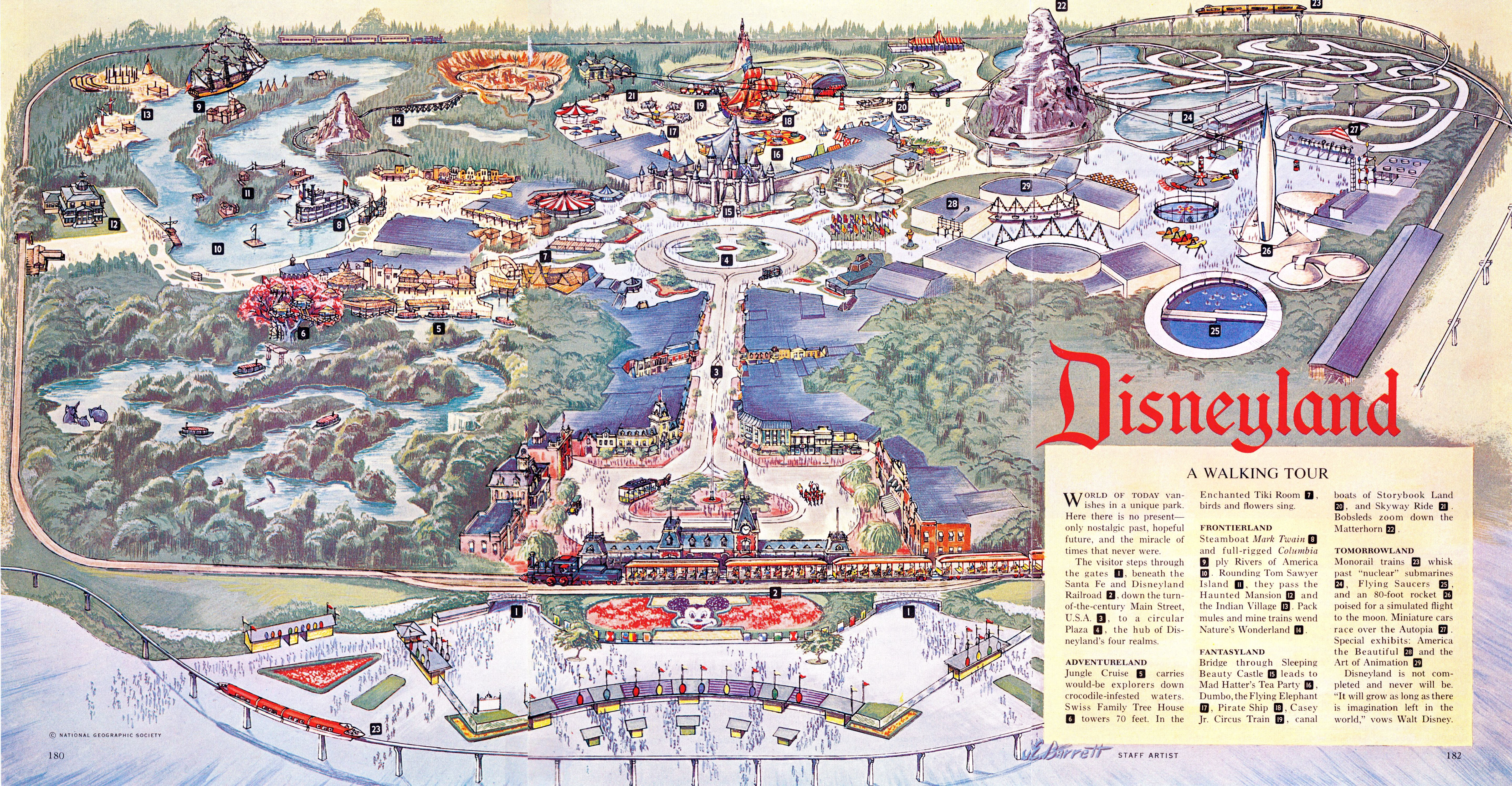It is a photo of Monster Printable Disneyland Maps