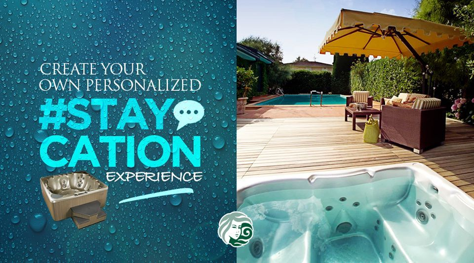 R&R doesn't have to be an expensive vacation. Take advantage of a quiet house and create your own personalized 'staycation' experience, complete with a luxurious home spa designed to pamper and relax you #beachcomberhottubs #hottubs #outdoorliving  #canada #relaxation #hydrotherapy #massage #beachcomber