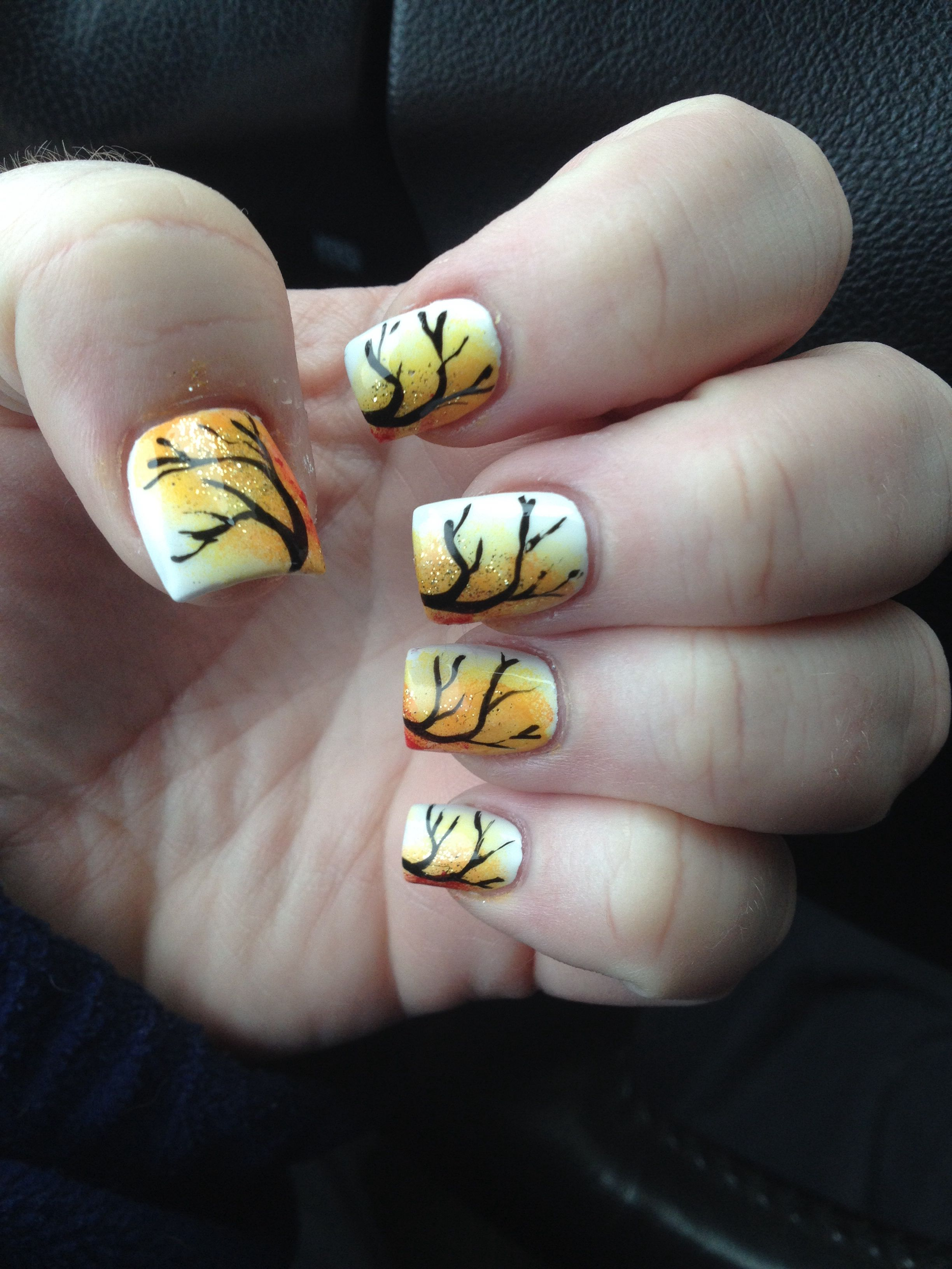 My first fall nails!
