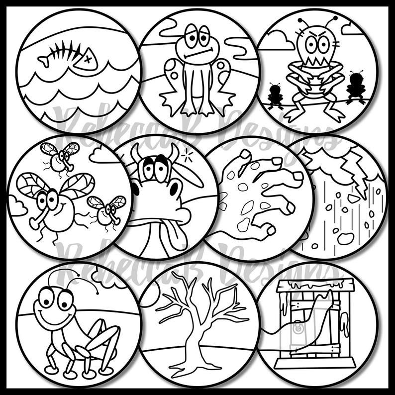 Moses and the Ten Plagues Activity Book & Lesson Plans for