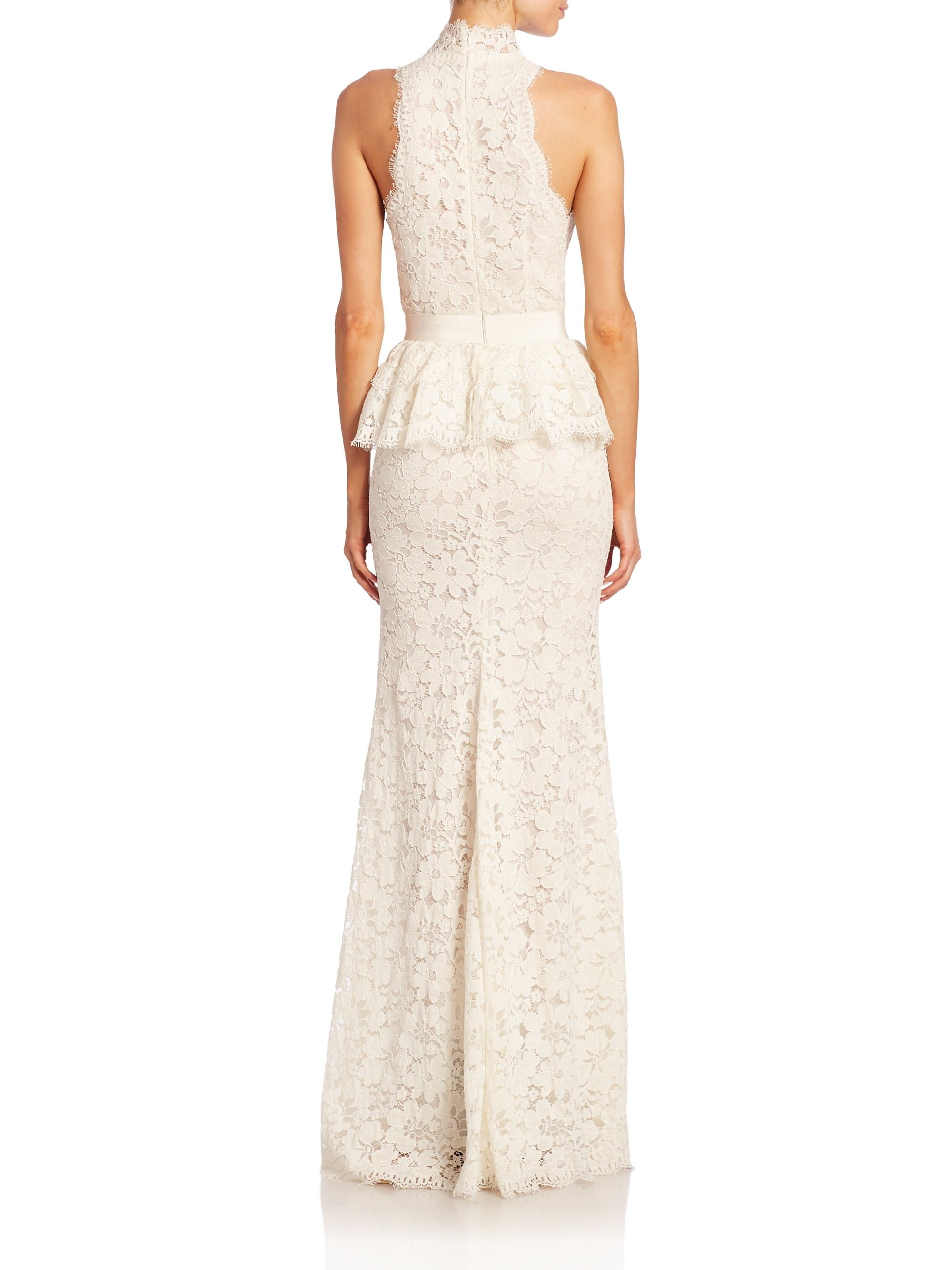 Peplum lace gown by alexander mcqueen chinnyus fashion edge