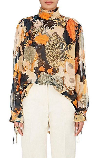 f482344b371dd1 We Adore  The Floral-Print Silk Blouse from Dries Van Noten at Barneys New  York