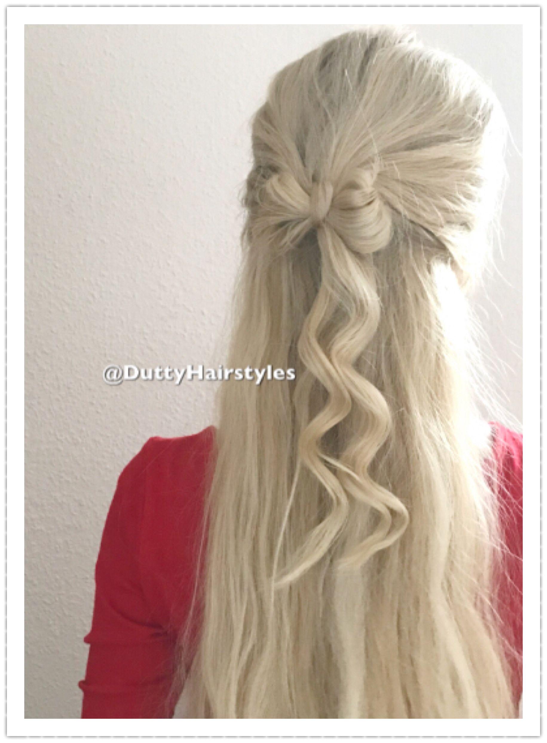 Schleife Haare Frisur Duttyhairstyles Frisuren