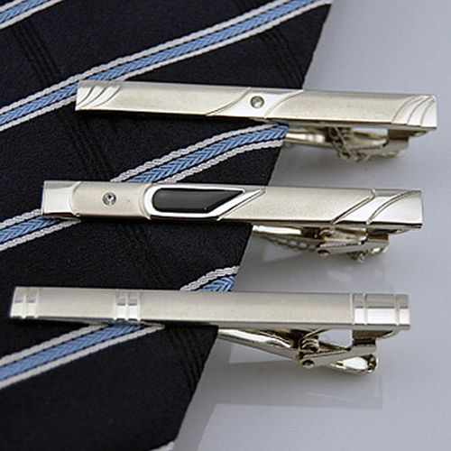 Bluelans 멀티 스타일 신사 실버 금속 간단한 넥타이 타이 클립 바 핀