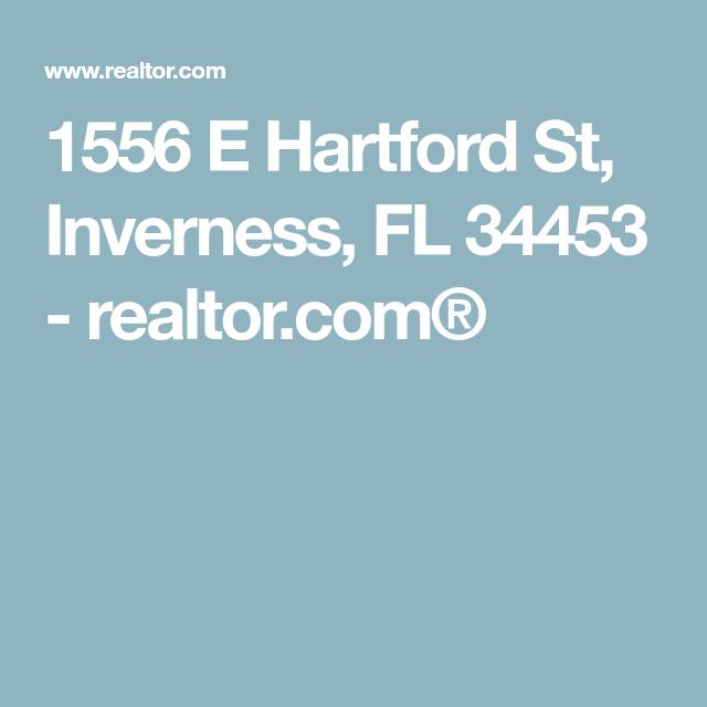 1556 E Hartford St Inverness Fl 34453 Realtor Com Inverness Hartford Building A House