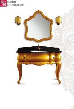"Bador Decoration - LUXUS Designer Waschtisch ""Prince Gold"" bador-decoration.de 1199eur"