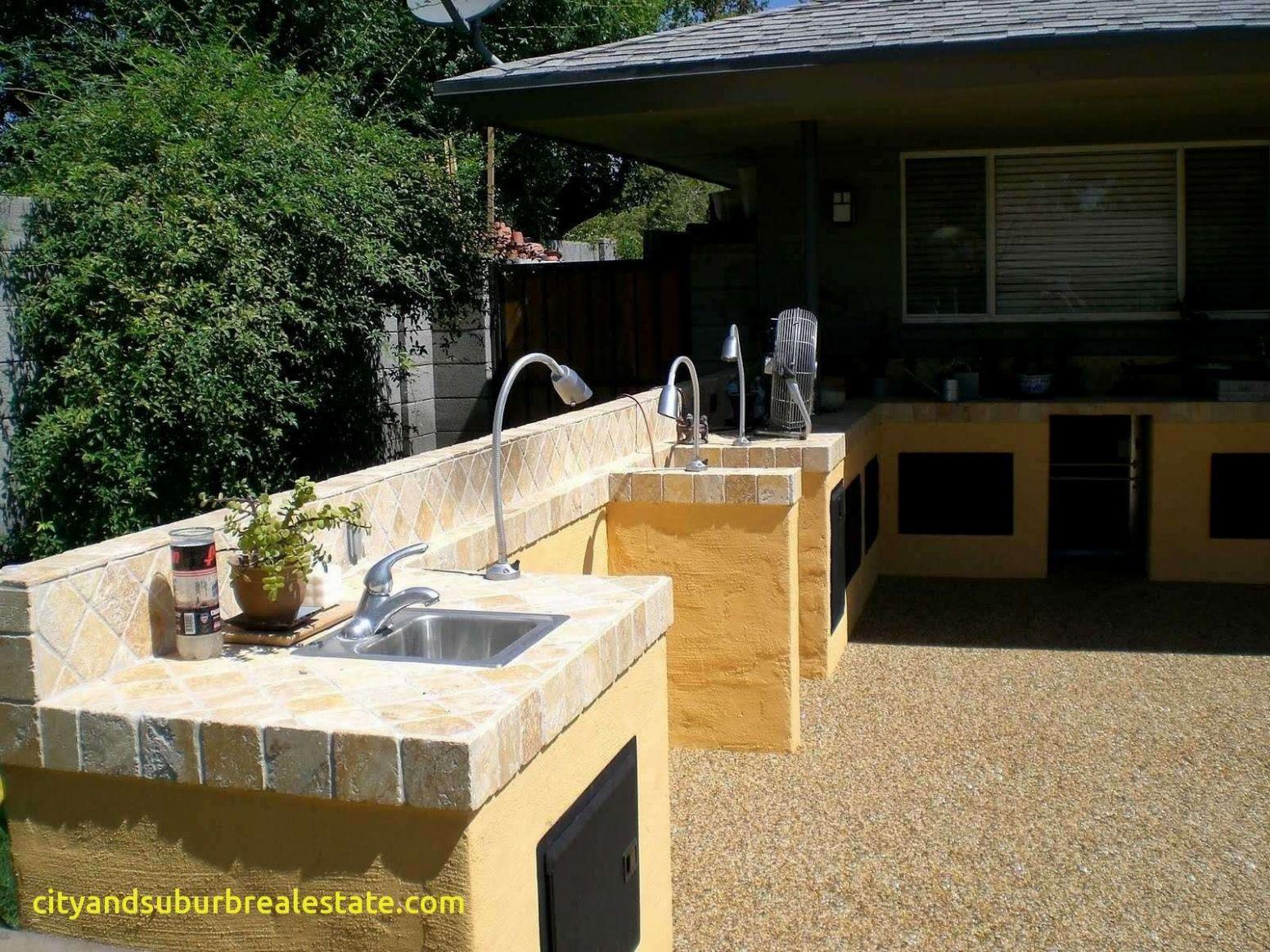 Lovely Waterproof Outdoor Kitchen Cabinets Dapur Luar Ruangan Interior Modern