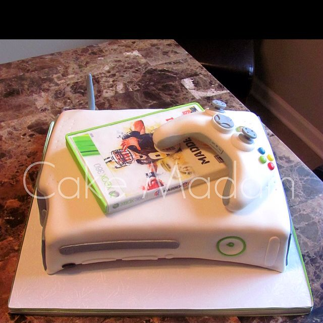 My Sons Xbox 14th Birthday Cake With Images Boy Birthday Cake