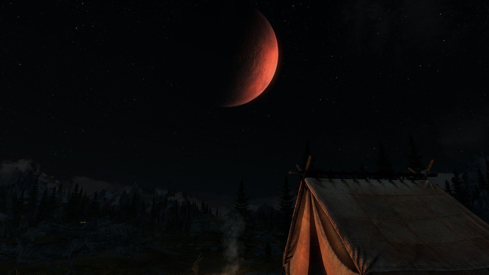 Camping Under Moonlight #games #Skyrim #elderscrolls #BE3 #gaming #videogames #Concours #NGC