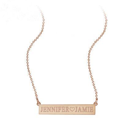 8937d32b13f2 Mi collar con nombre collar de placa de plata mujeres