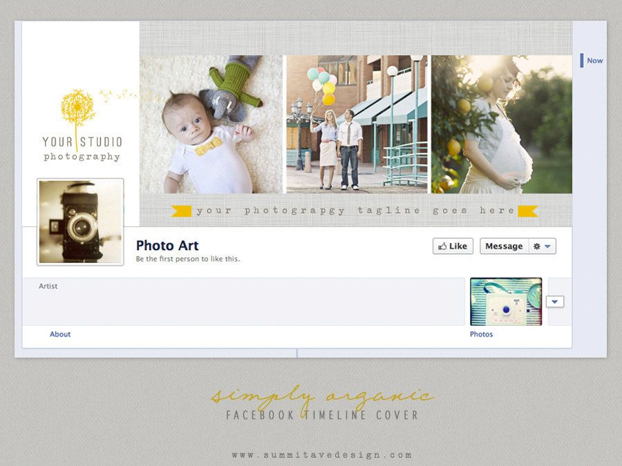 Facebook Timeline Cover design - Simply Organic by Summit Avenue. $6.00, via Etsy.