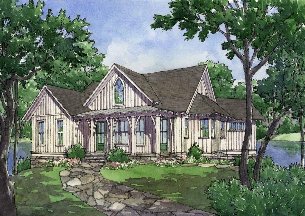 Alabama Gothic L Mitchell Ginn Associates Gothic House One Level House Plans Cottage Floor Plans