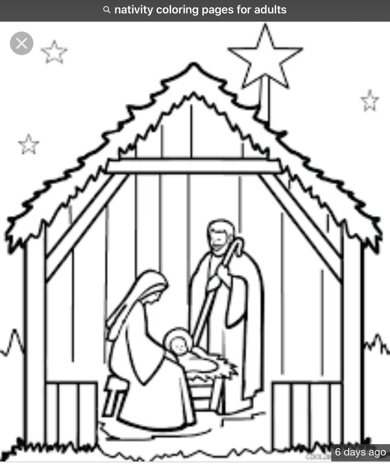 34 Manger Scene Coloring Pages