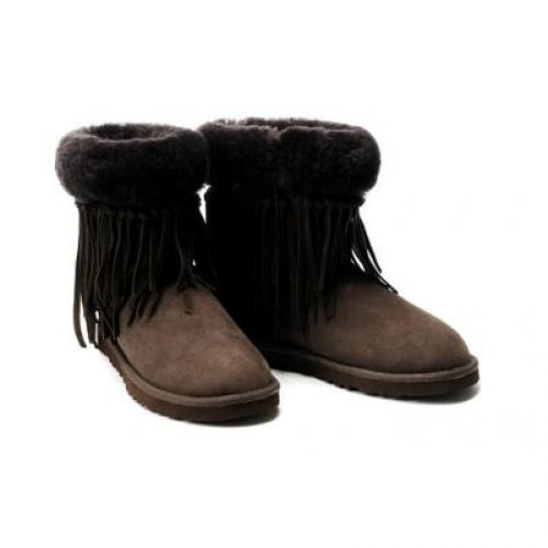 UGG Tassel Short 5835 boots Chocolate