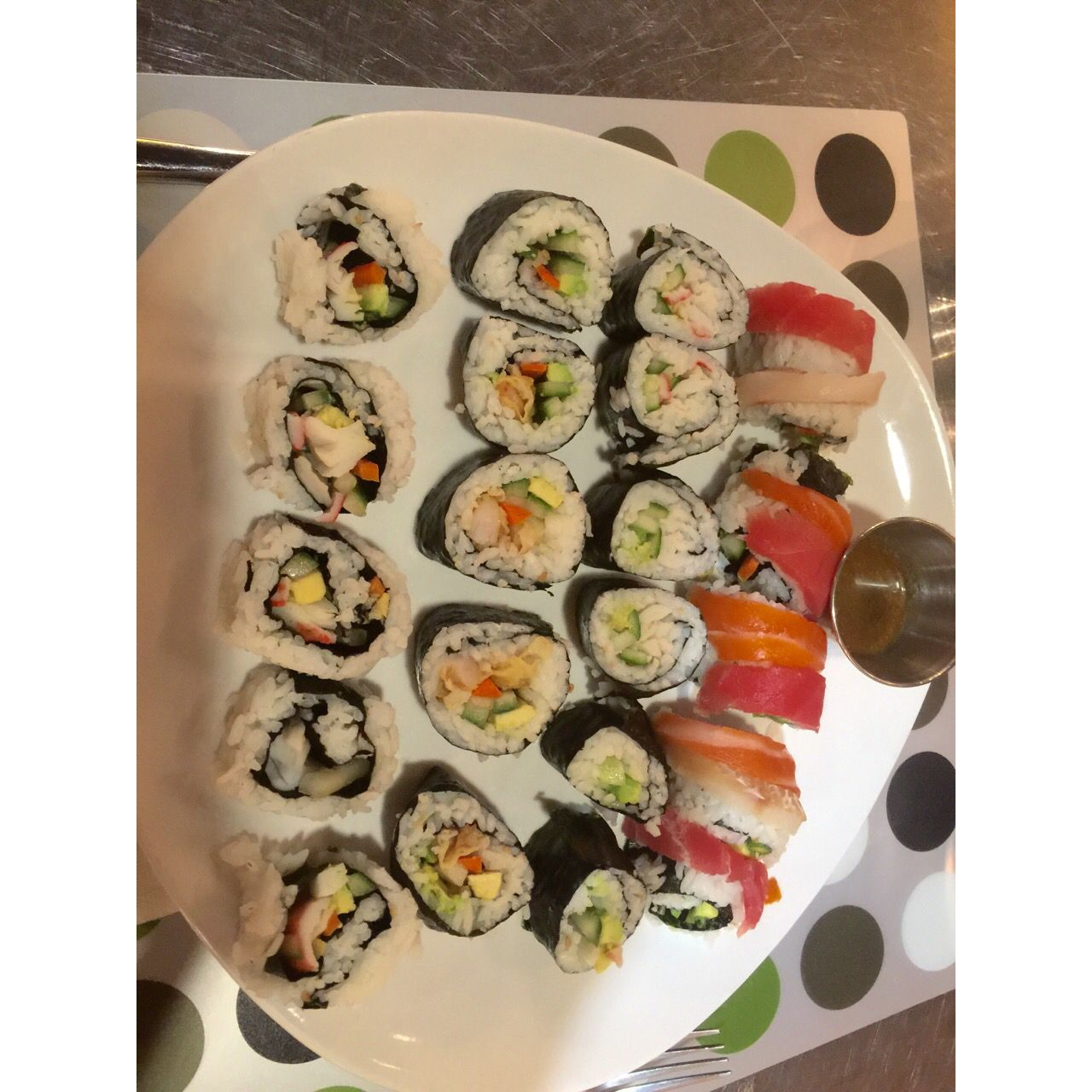 Took a sushi class at  Cookology | 21100 Dulles Town Circle | Sterling | VA | 20166 great class... Try It!!