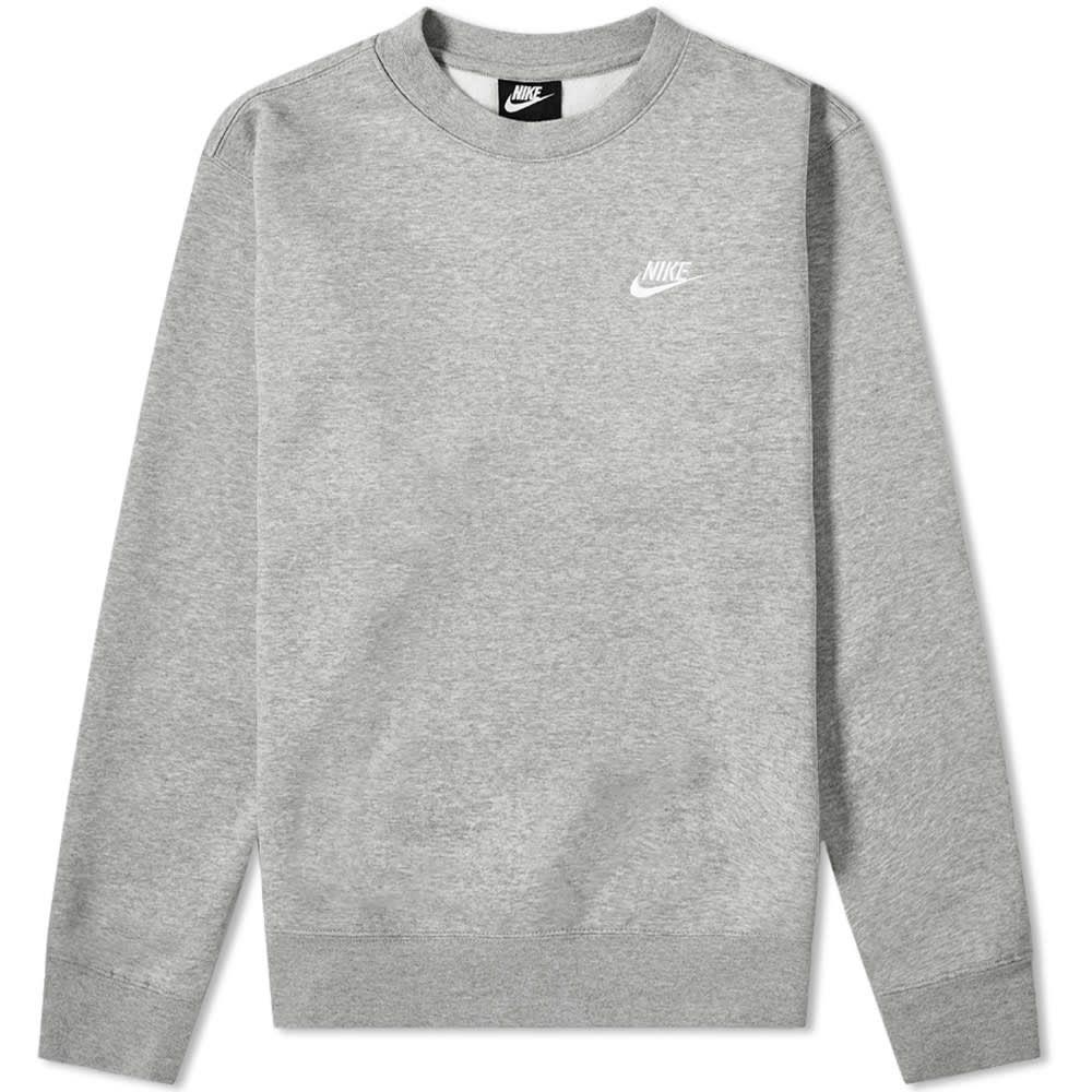 Nike Club Crew Sweat Nike Crewneck Sweatshirt Sweatshirts Grey Nike Hoodie [ 1000 x 1000 Pixel ]
