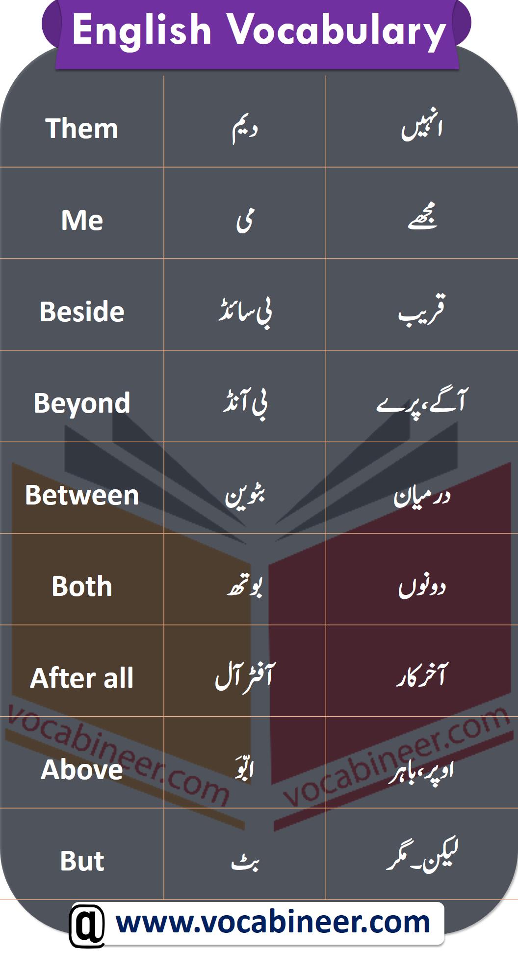 Urdu Words List In English Watch Video Pdf Book In 2020 Learn English Words English Vocabulary English Phrases Sentences [ 1942 x 1056 Pixel ]
