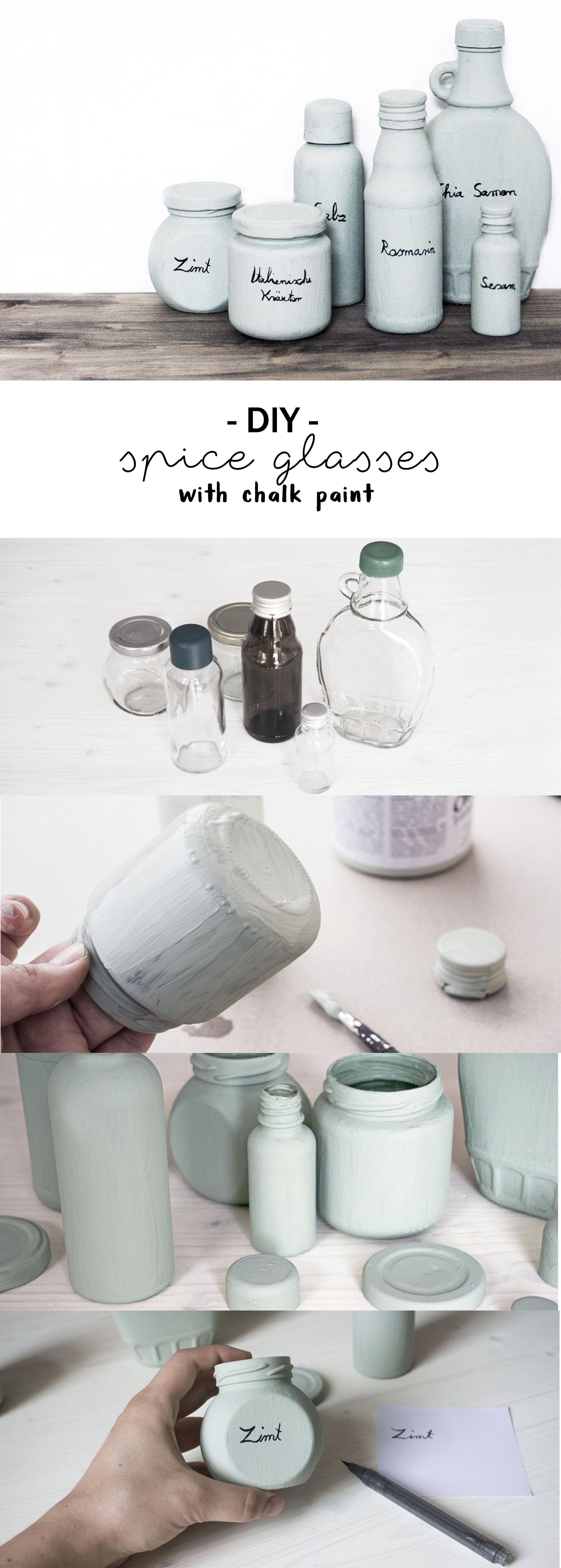 Badezimmer einmachglas ideen gewürzgläser mit kreidefarbe für frosch  Творческий декор Декор