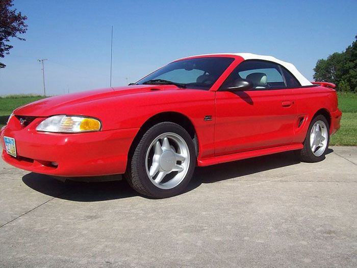 1995 Mustang GT Convertible Rio Red  Mustangs  Pinterest