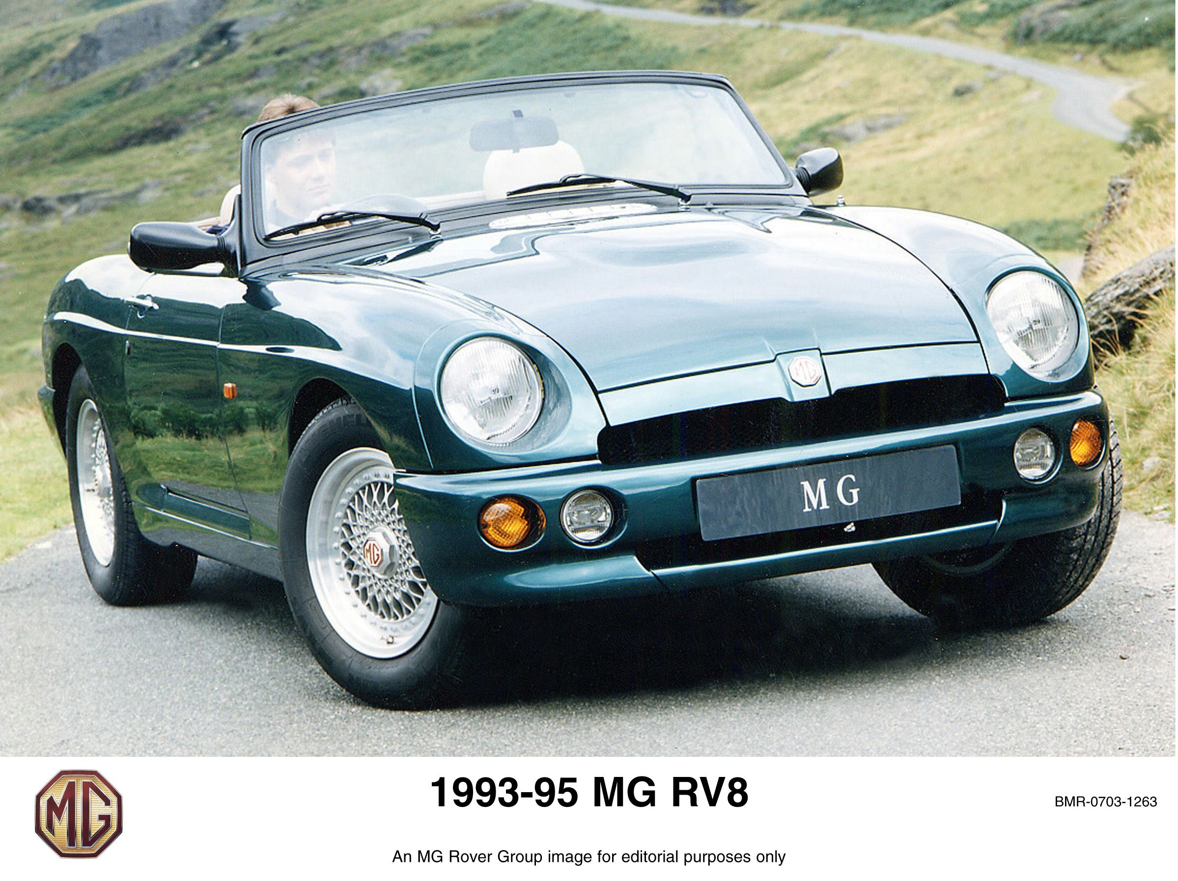 rover mg rv8 promotional picture british sports cars british motors mg cars rover mg rv8 promotional picture