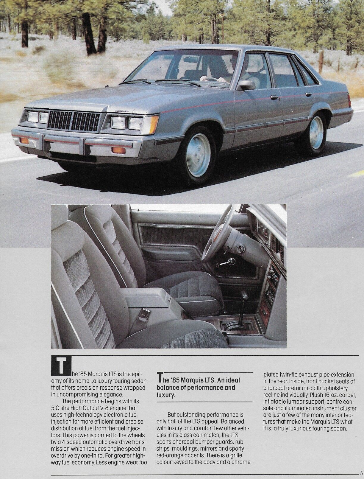 Mercury Marquis LTS 1985 | Old Car Adds | Ford lincoln