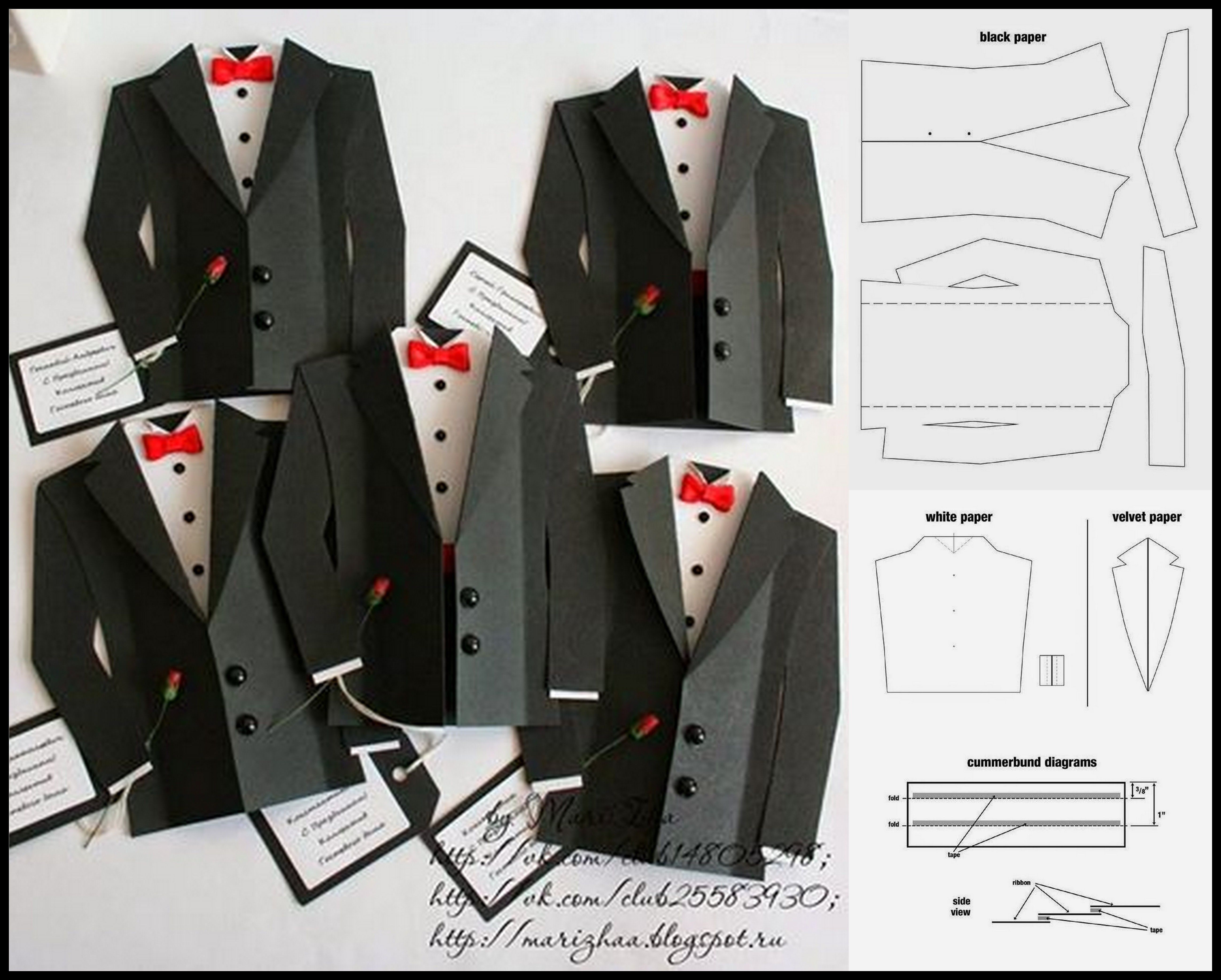 Pin By Marcela Maria On բացիկներ Tuxedo Card Handmade Birthday Cards Dress Card